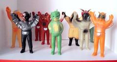 Unifive repros (kopponigen) Tags: japan toy mask bat vinyl masked condor rider kaiju batboy villian kamen repro uni5 sofubi geba unifive