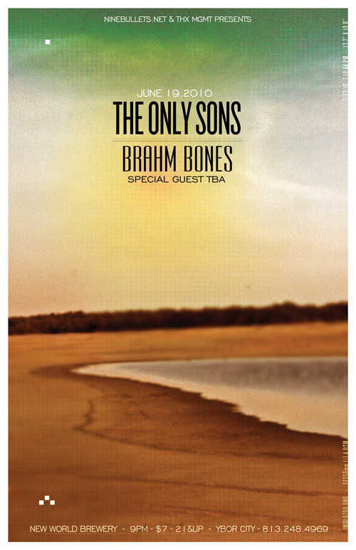 The Only Sons - Show Flier