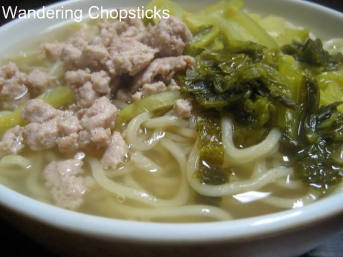 Chinese Noodle Soup with Ground Turkey and Pickled Mustard Greens 1