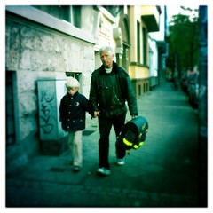 walking to school (*monika) Tags: boy people man person streetphotography menschen blond mann bookbag junge 3gs iphone mensch tiltshift ranzen tornister iphoneography hipstamatic
