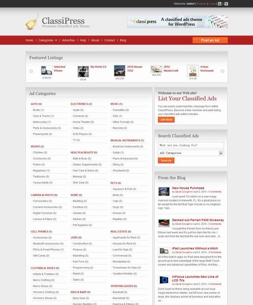 ClassiPress v3.0.2   Premium Wordpress Theme