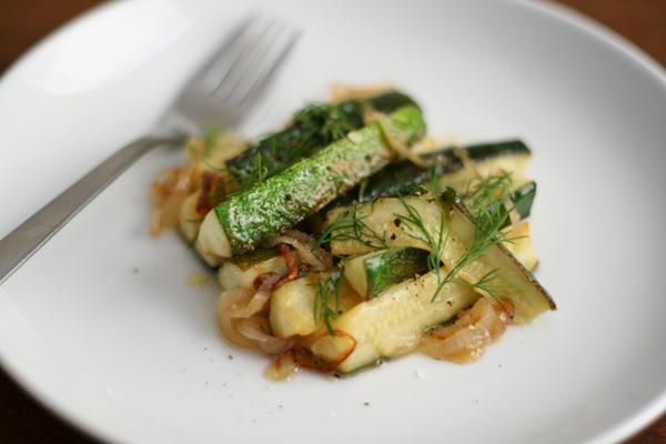 zucchini and shallots