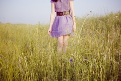 purple (laurenmarek) Tags: flowers girl field nikon texas dress purple sigma adobe simple lightroom 30mm d40 laurenmarek