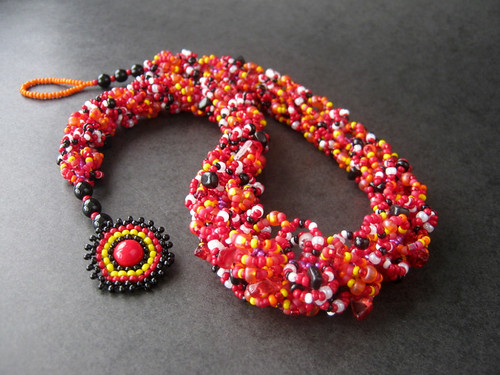 Twirling Ladybugs Necklace
