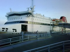 M/S Visby from the boarding lounge