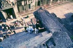 Angkor Wat Steps, Cambodia, 2001