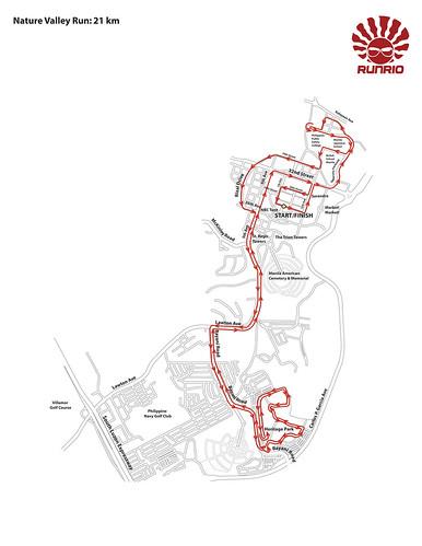 Nature Valley Run 2010 21K Race Map