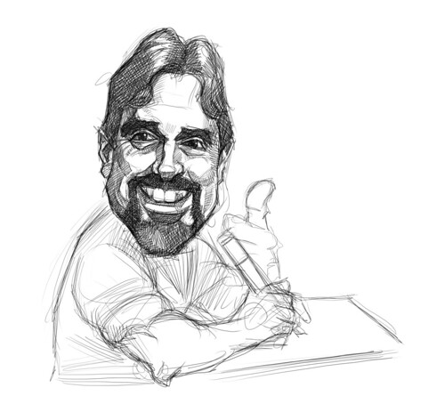 digital sketch of Mark Bruton - 4