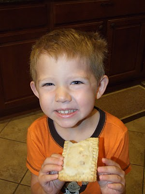 Brody eating poptart