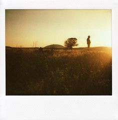 Hello Lava Beds! (moxiee) Tags: sunset northerncalifornia polaroid spectra lavabeds roidweek spring2010