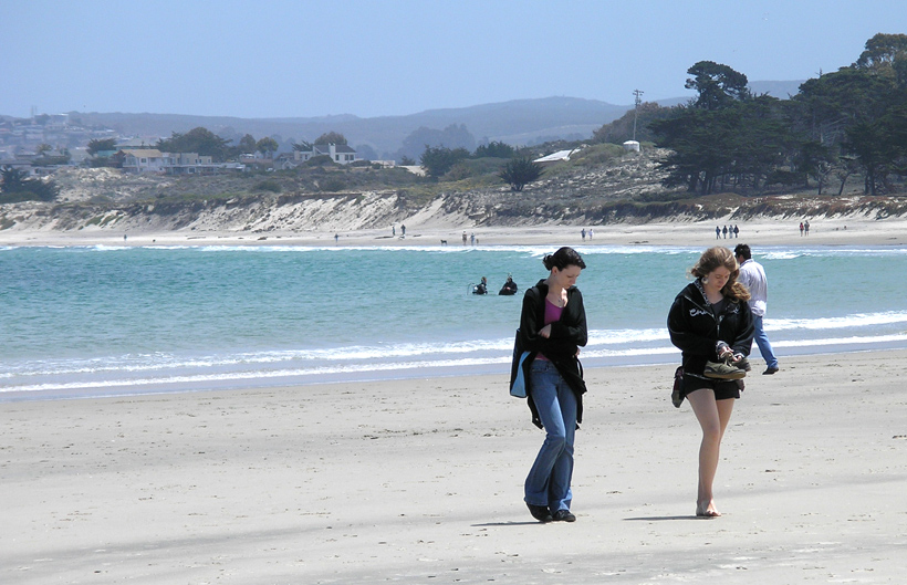 Karen and Melanie in Pacific Grove
