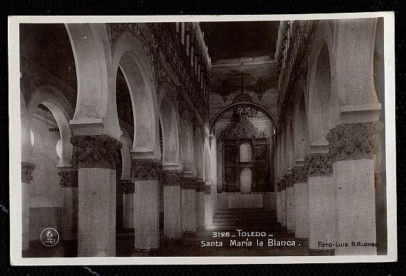 Sinagoga de Santa María la Blanca a comienzos del siglo XX. Foto Alonso