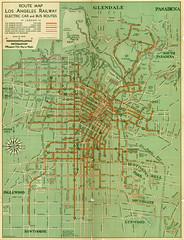 Los Angeles Railway Map, 1938 (patia) Tags: losangeles map 1938 railway noordwal hpnoordwal