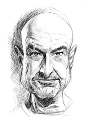 John Locke Sketch (Mark Hammermeister) Tags: television illustration lost sketch sketchbook scifi caricature abc sciencefiction johnlocke smokemonster