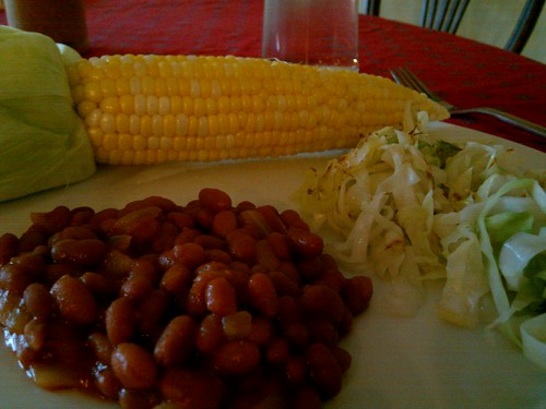 Baked Beans, Fresh Corn, Sauteed Cabbage