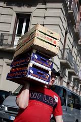 doppio gusto (bassovita) Tags: italy fruit italia tomatoes streetshots napoli naples boxes crates fruitman fruitcrates scenesfromthestreet