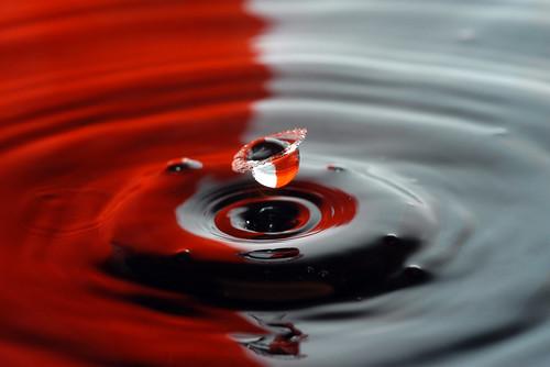 フリー写真素材, テクスチャ・背景, 水・氷, 雫・水滴, 波紋,
