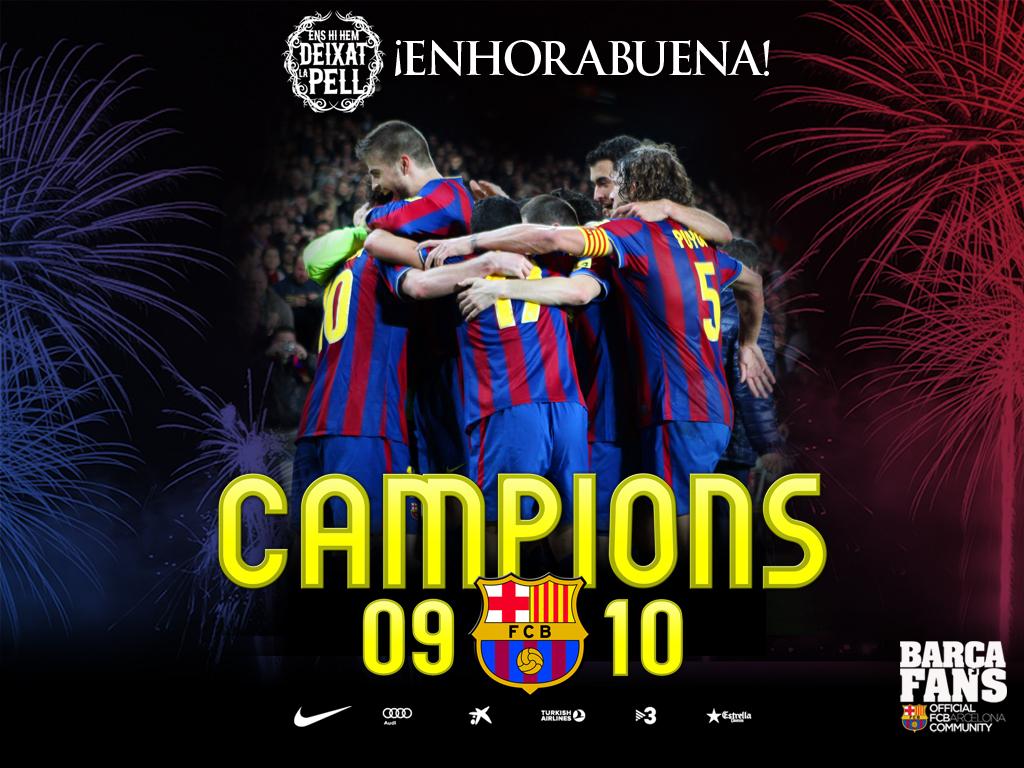 FC Barcelona  Campe  N De Liga 09 10