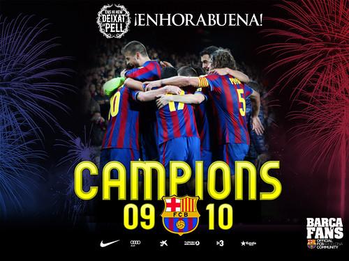 Barça Campeón de Liga 2009/2010