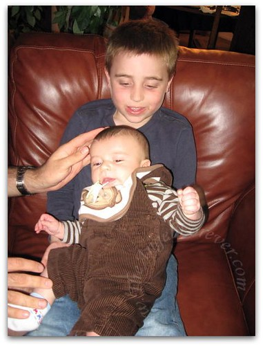 Holding baby cousin