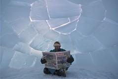 Igloo (www.AlastairHumphreys.com) Tags: blue sun house canada cold building ice home pole arctic polar igloo northpole magneticnorthpole