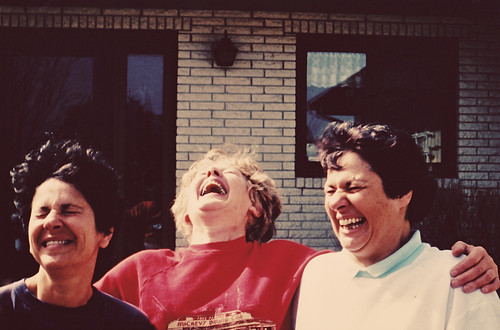 Mom and cousins laughing