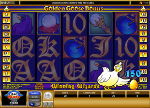 free Golden Goose Winning Wizards golden goose bonus game