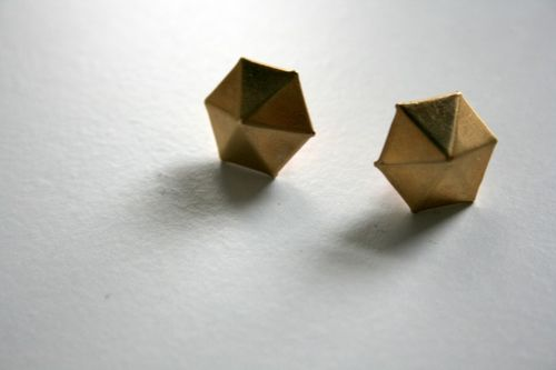 Vintage Brass Post Earrings