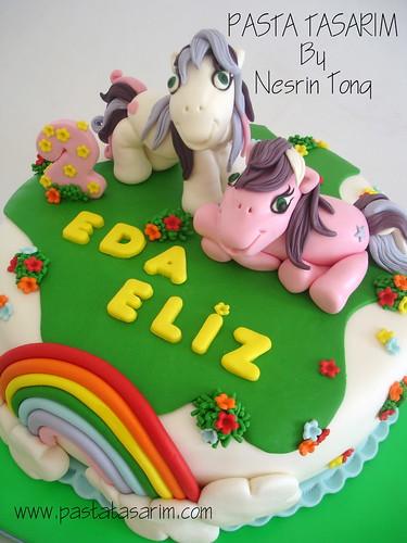 EDA ELIZ'S 2ND BIRTHDAY  PONY CAKE