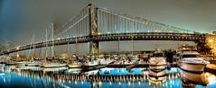 Benjamin Franklin Bridge from Docks