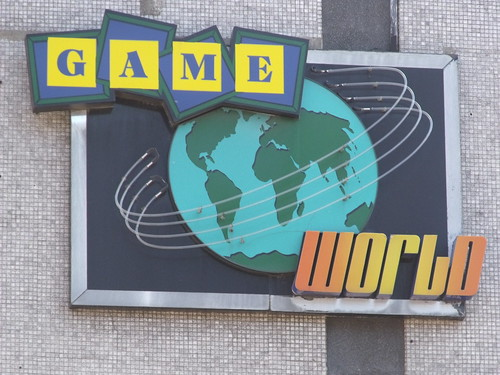 Signs on the former Megabowl, Pershore Street, Birmingham - Game World - sign