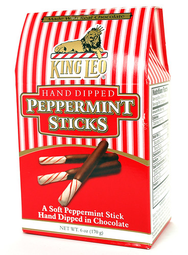 King Leo Hand Dipped Peppermint Sticks