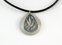 """""""Crane"""" Silver Necklace (EfratJewelry) Tags: silver handmade jewelry jewellery sterling 925 oxidized silversmith metalsmith sterlingsilver          efratjewelry"""
