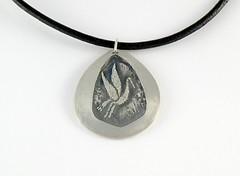 """Crane"" Silver Necklace (EfratJewelry) Tags: silver handmade jewelry jewellery sterling 925 oxidized silversmith metalsmith sterlingsilver כסף סטרלינג תכשיטים שרשרת תליון תליונים שרשראות צורפות עיצובתכשיטים efratjewelry"