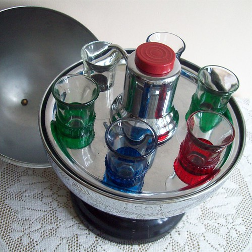 Chrome Bowling Shot Glass Bar Set by Collectique