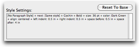 Header specs in InDesign