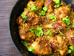 Chicken Rendang (Indonesian Dry Chicken Curry) (riceandwheat) Tags: food chicken recipe coconut curry lemongrass turmeric indonesian tamarind rendang galangal kaffirlime riceandwheat