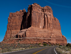 On the Road (idashum) Tags: road street travel rock utah nationalpark nikon sandstone rocks arch arches moab geology archesnationalpark monolith ida shum monoliths rockformations rockformation d300 navajosandstone giantrocks courthousetowers geologicalformation sandstonefins idashum