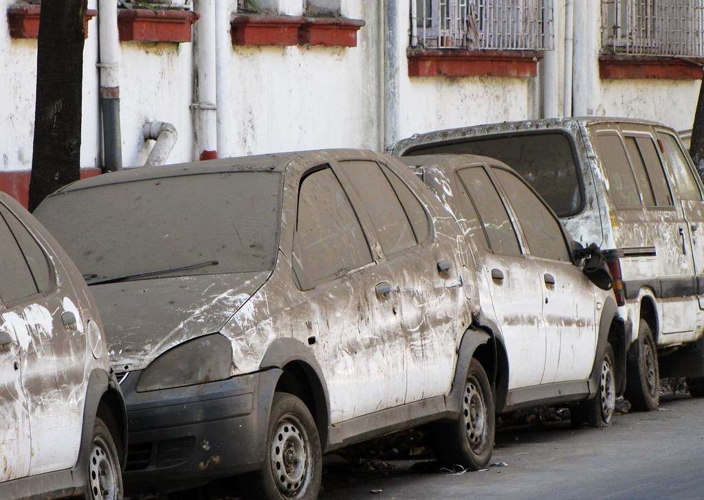 Newer Ditched Cars Covered in Soot