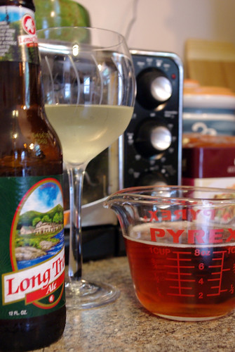 Wine for drinking, beer for fondue-ing