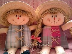 Casal de Espantalhos (Luz de Girassol Ateli) Tags: infantil beb criana festa aniversrio decorao junina quartos fazendinha espantalhos minimesa