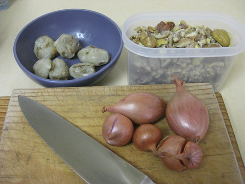 Chestnut soup - ingredients