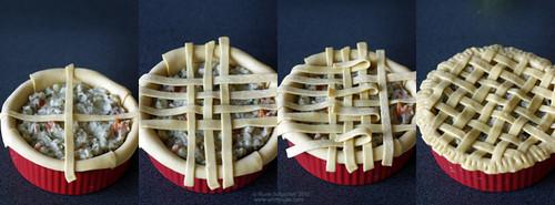 Chicken Pie Lattice Collage