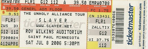 06/08/06 Slayer @ Mpls, MN (Ticket)