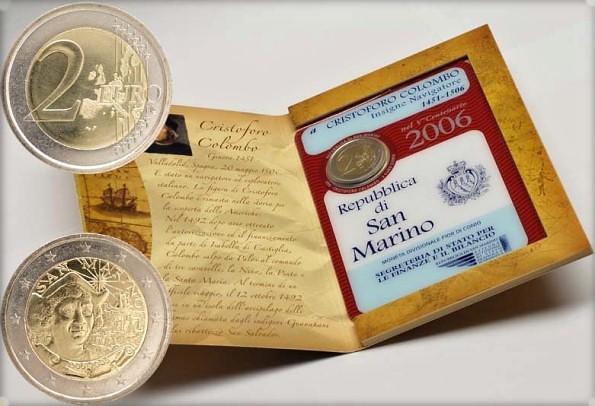 2 Euro San Marino 2006, Krištof Kolumbus