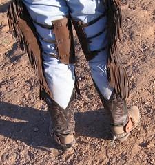 COWBOY GEAR (AZ CHAPS) Tags: ranch spurs cowboy boots wranglers chinks