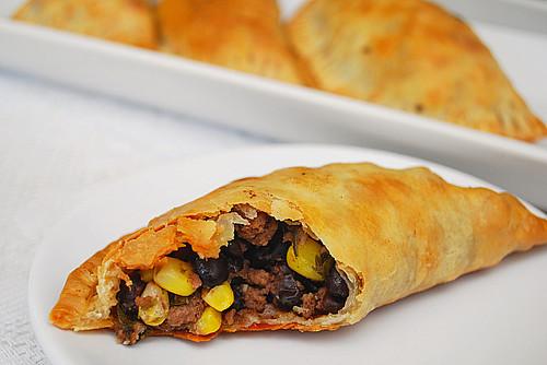 Corn, Black Beans & Beef Empanadas