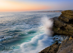 Falling in Love (Ar'alani) Tags: california longexposure sunset beach nature landscape scenic wave lajolla nikond700 aralaniphotography crazyirrationallove