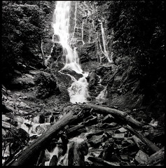 (Kiran Bhat.) Tags: bw 6x6 film analog zeiss landscape waterfall fuji hasselblad carl 500c epson neopan 100 80 f28 greatsmokymountains selfdeveloped jobo v700 cpe2