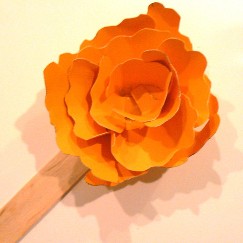 paper cardstock flower without center
